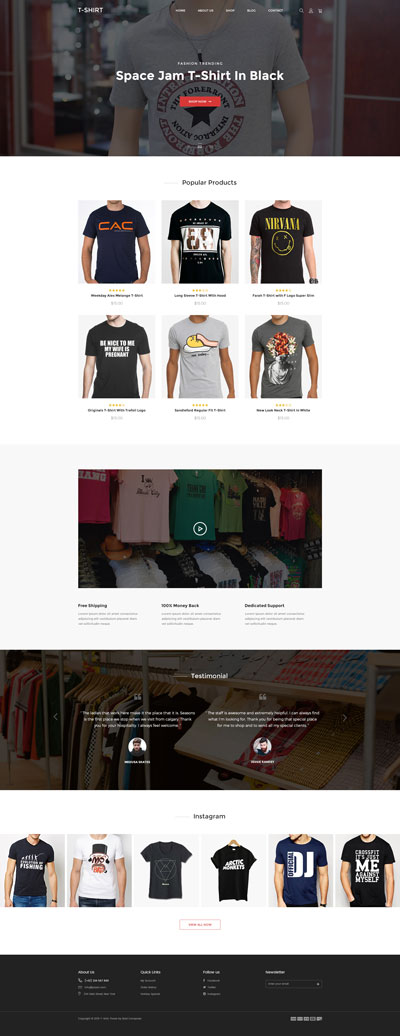 Shopify T-Shirt Theme