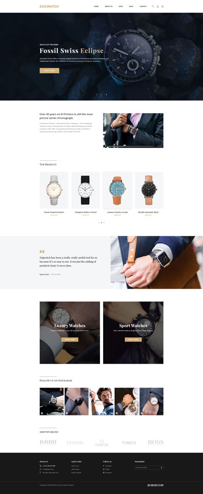 Shopify Watch Theme