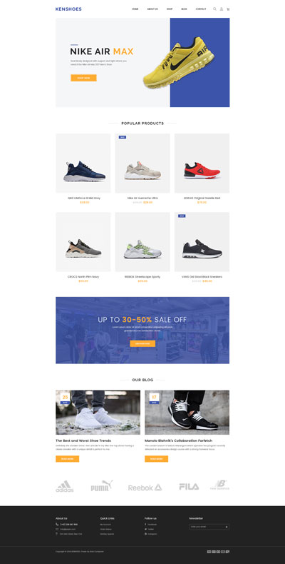 Shopify Shoes Theme