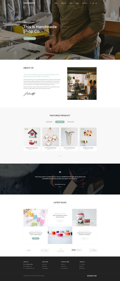 Shopify Handmade Theme