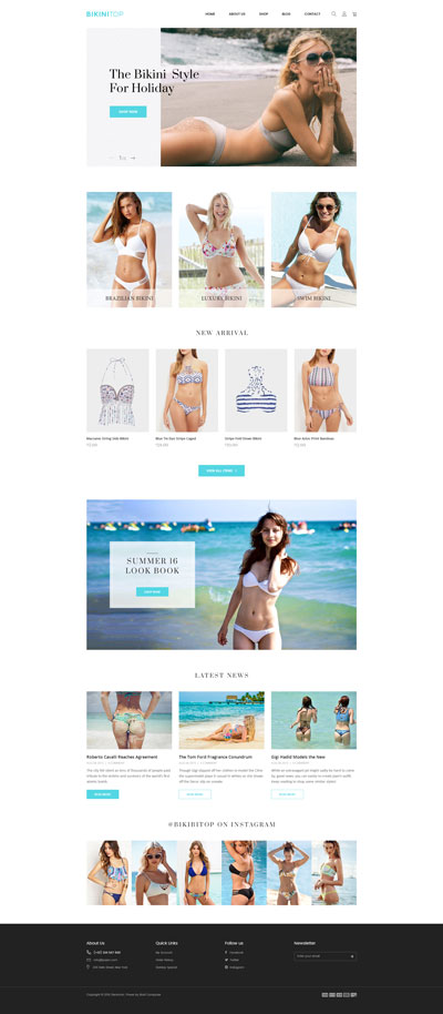 Shopify Bikini Theme